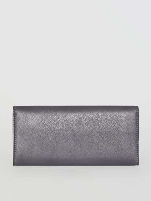 Leather Continental Wallet in Charcoal Grey - Women | Burberry - cell image 2