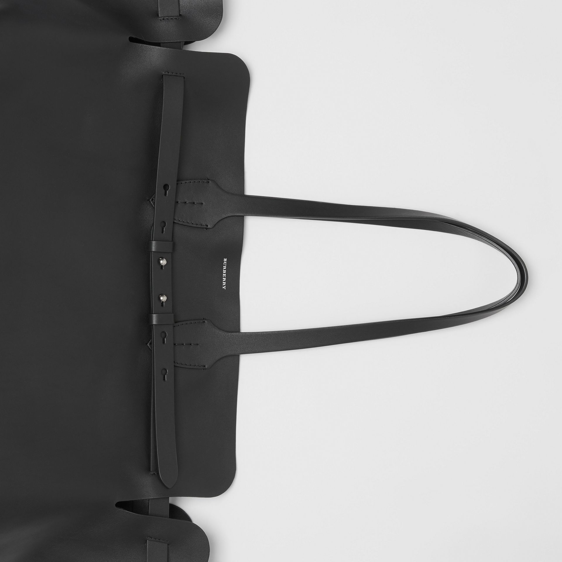 The Large Soft Leather Belt Bag in Black - Women | Burberry United Kingdom - gallery image 1