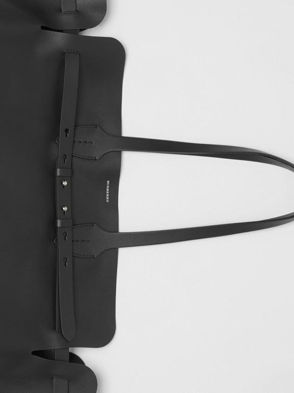 The Large Soft Leather Belt Bag in Black - Women | Burberry - cell image 1