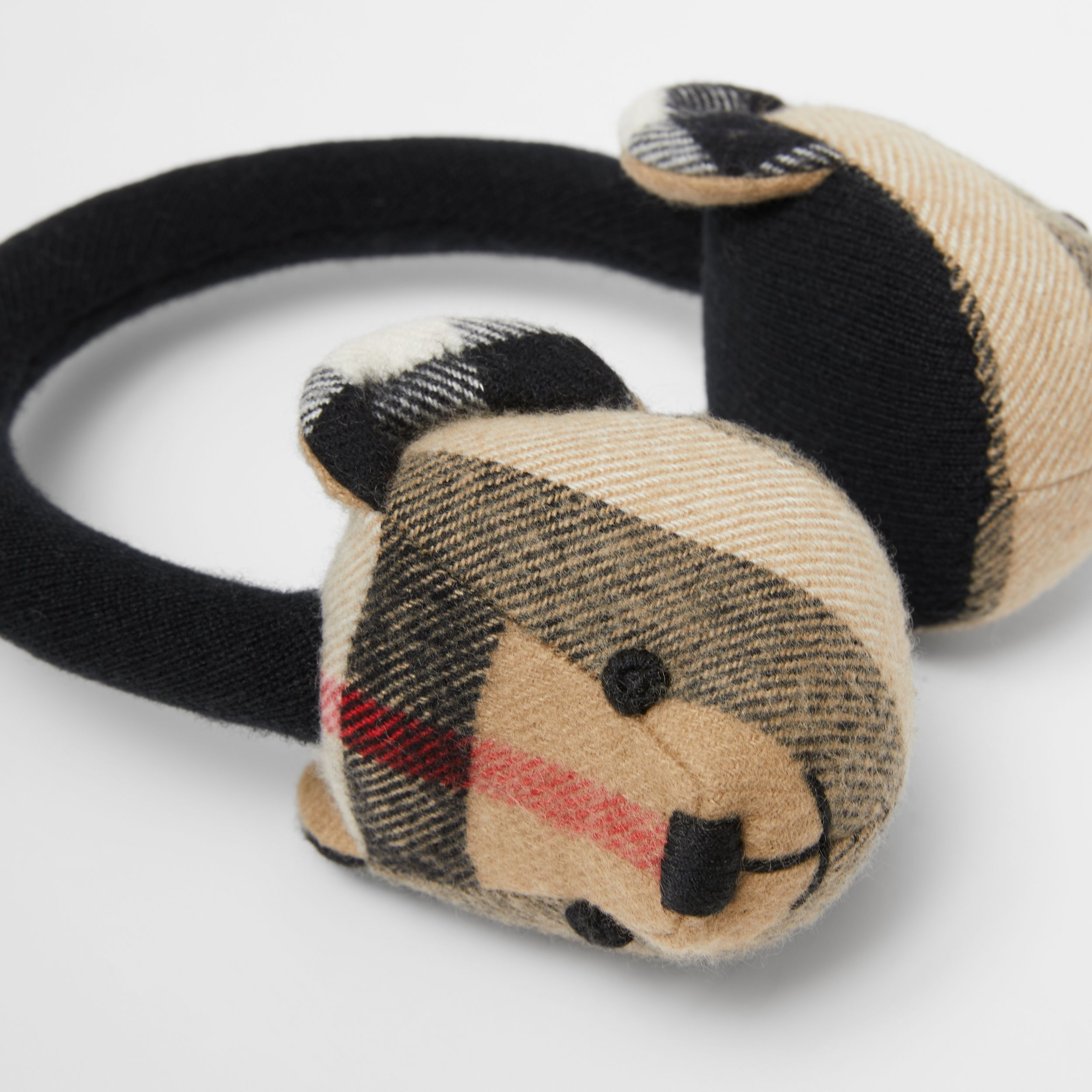 Thomas Bear Cashmere Earmuffs in Archive Beige - Children | Burberry - 2