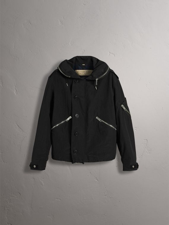 Rainproof Flyweight Jacket with Packaway Hood - Men | Burberry - cell image 3