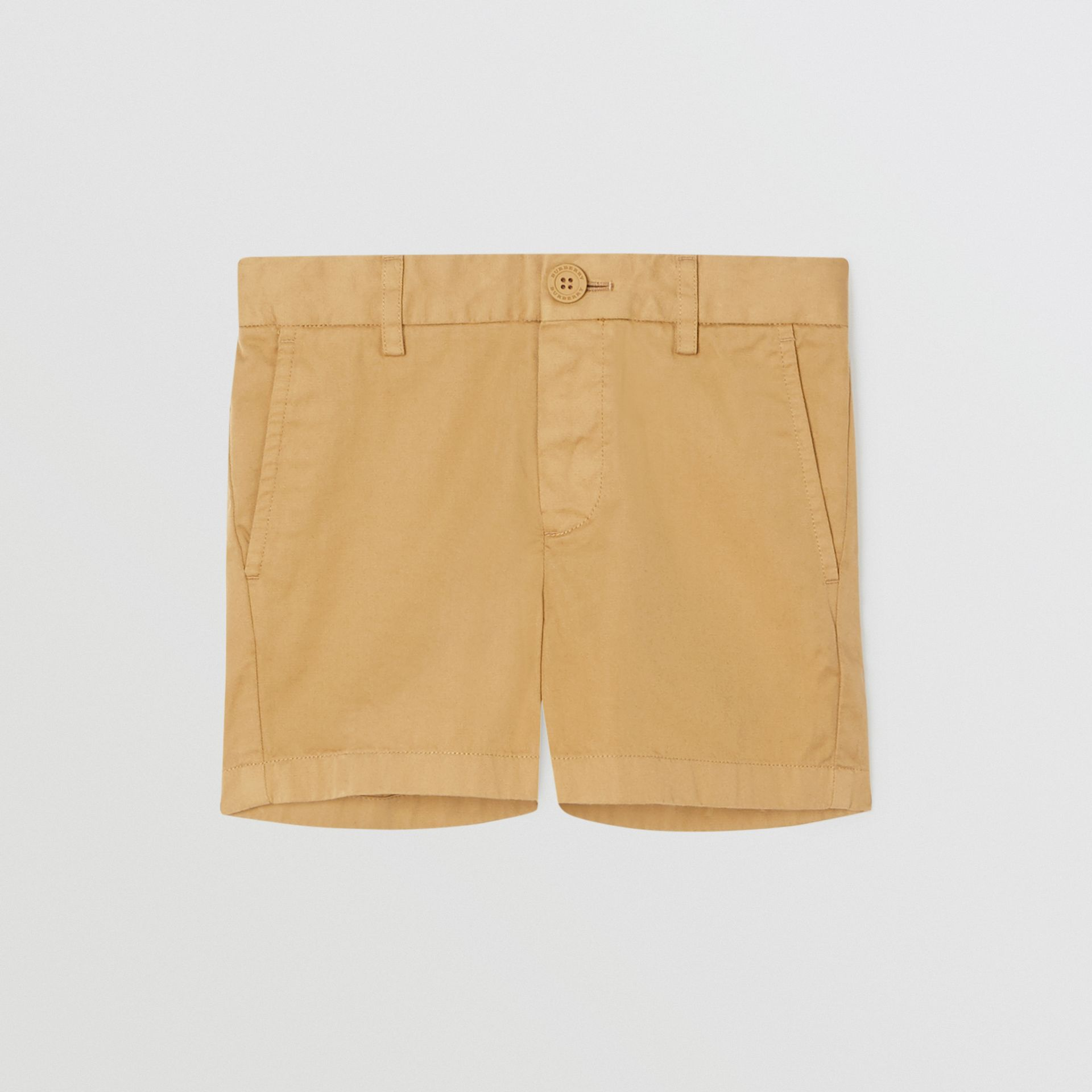 Cotton Chino Shorts in Taupe | Burberry United Kingdom - gallery image 0