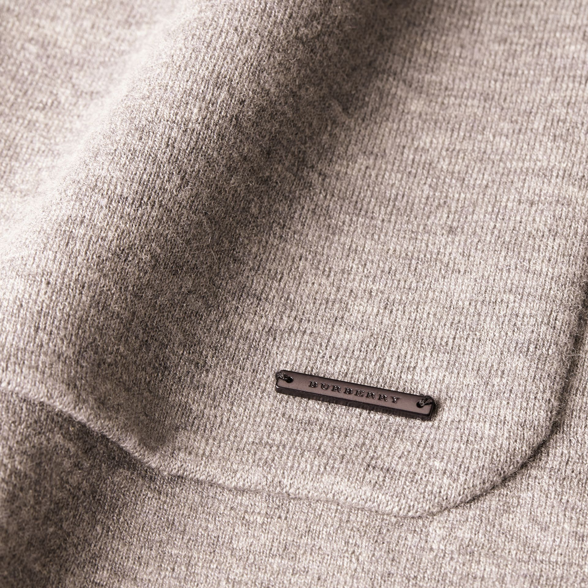 Light grey melange Wool Cashmere Knitted Jacket - gallery image 2