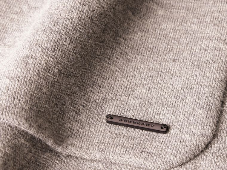 Light grey melange Wool Cashmere Knitted Jacket - cell image 1