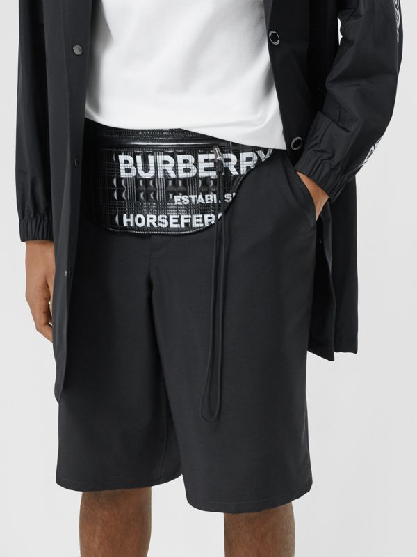 Horseferry Print Coated Canvas Brummell Bum Bag in Black - Men | Burberry United States - cell image 3