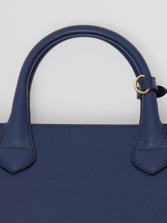 Sac The Banner medium en cuir et coton House check (Bleu Encre) - Femme | Burberry - cell image 1