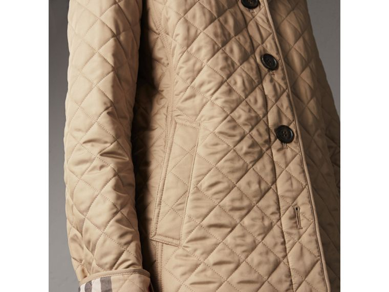 Diamond Quilted Jacket in Canvas - Women | Burberry Singapore - cell image 4