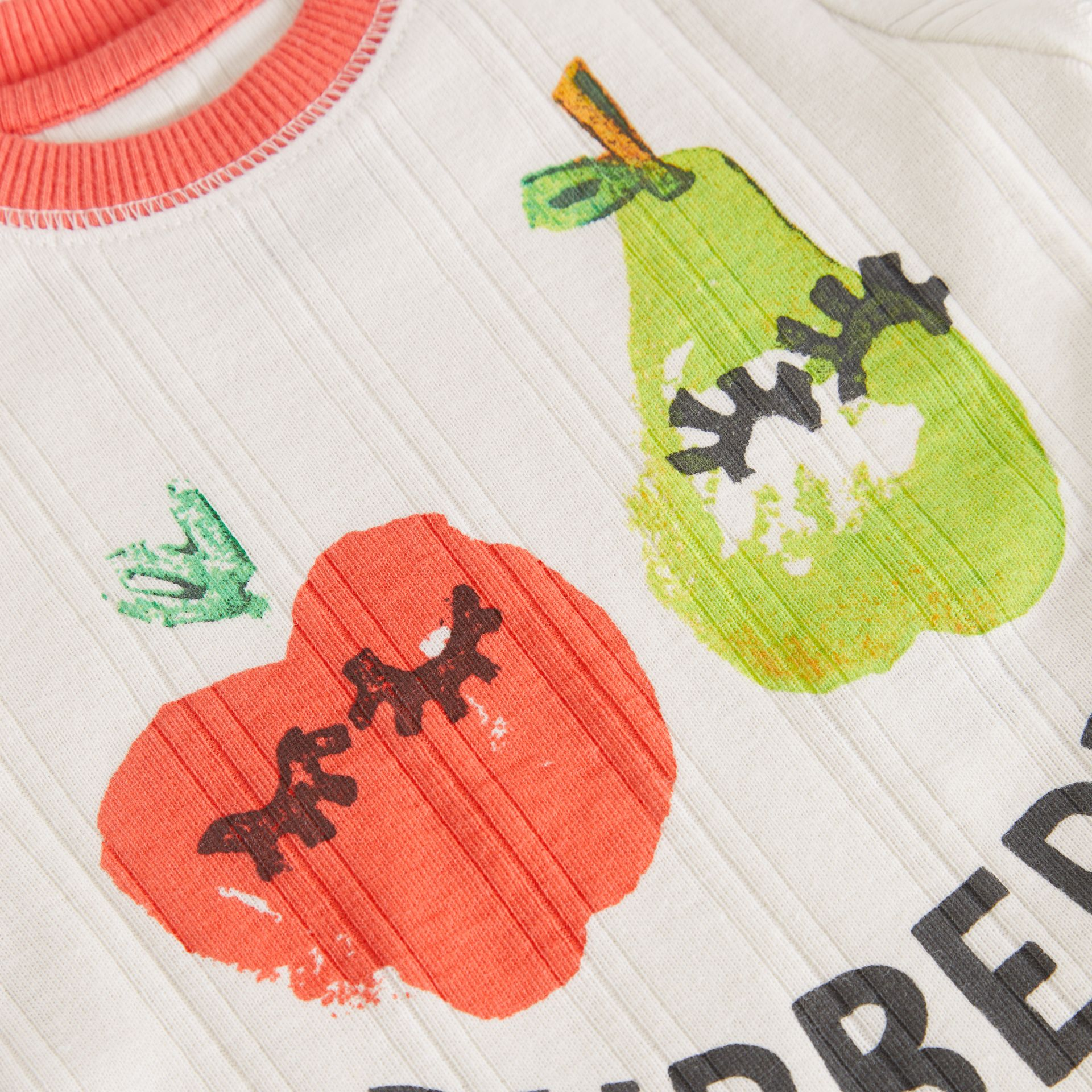 Fruit and Flower Print Three-piece Baby Gift Set in Stone - Children | Burberry - gallery image 1