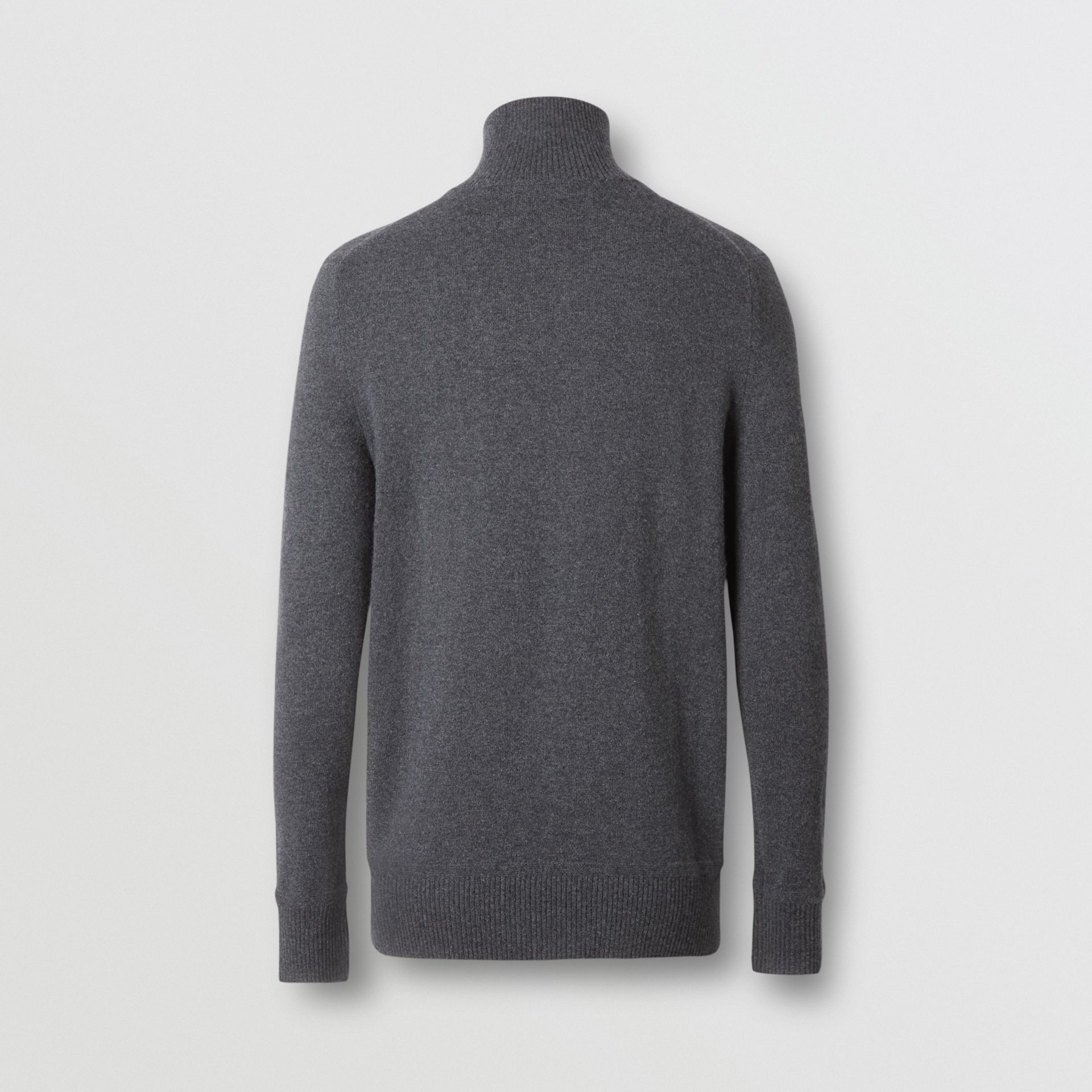 Monogram Motif Cashmere Funnel Neck Sweater in Steel Grey - Men | Burberry - gallery image 6