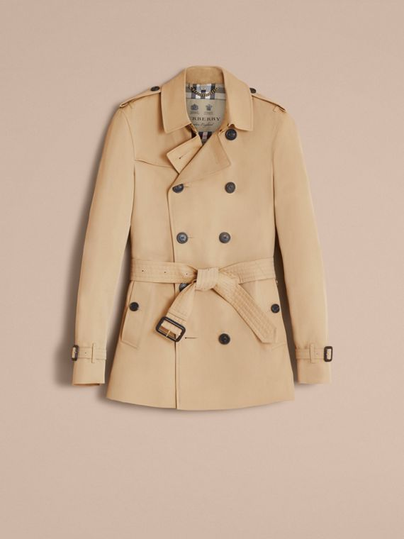 The Chelsea – Short Heritage Trench Coat Honey - cell image 3