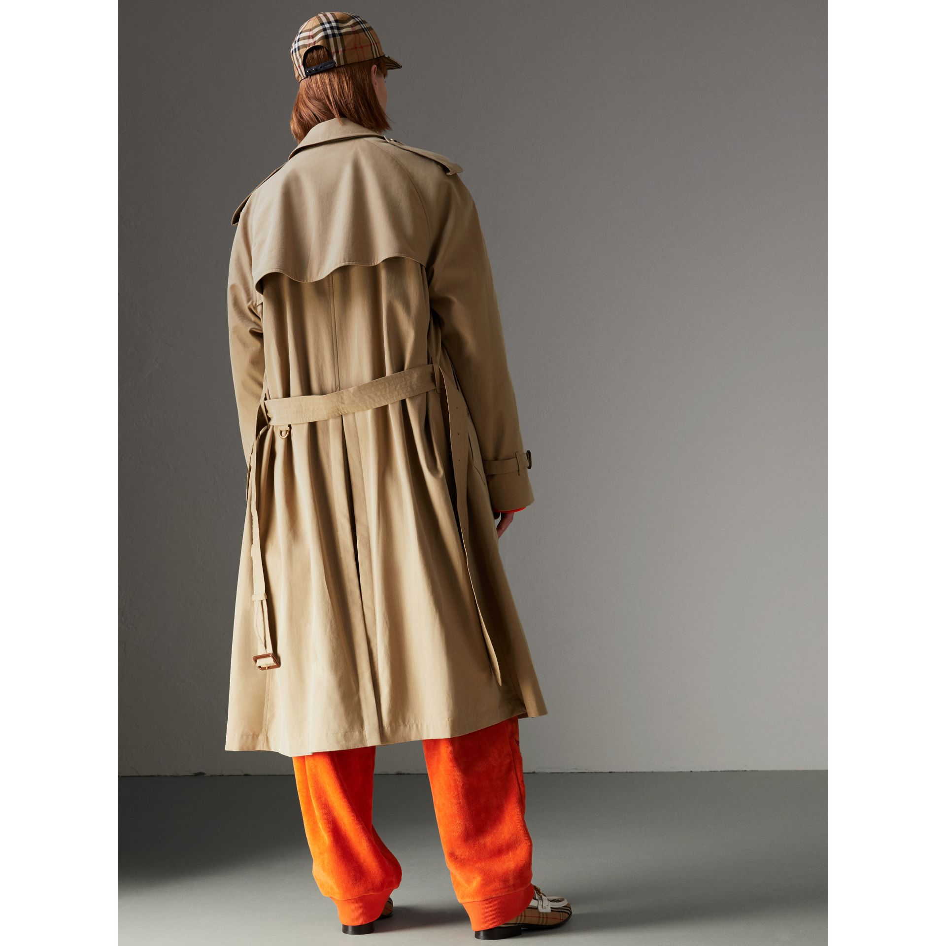 Tropical Gabardine Trench Coat in Honey - Women | Burberry Australia - gallery image 2