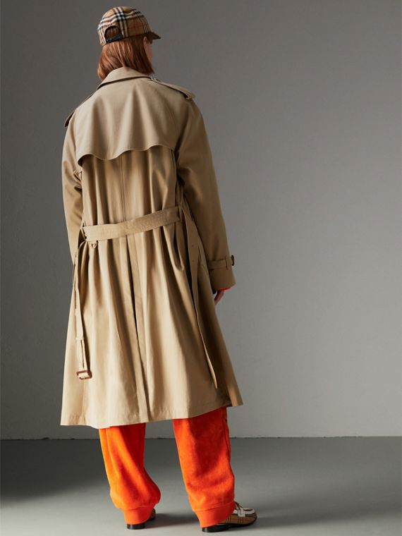 Rainbow Tropical Gabardine Trench Coat in Honey - Women | Burberry - cell image 2