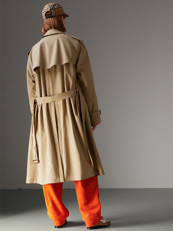 Tropical Gabardine Trench Coat in Honey - Women | Burberry Australia - cell image 2