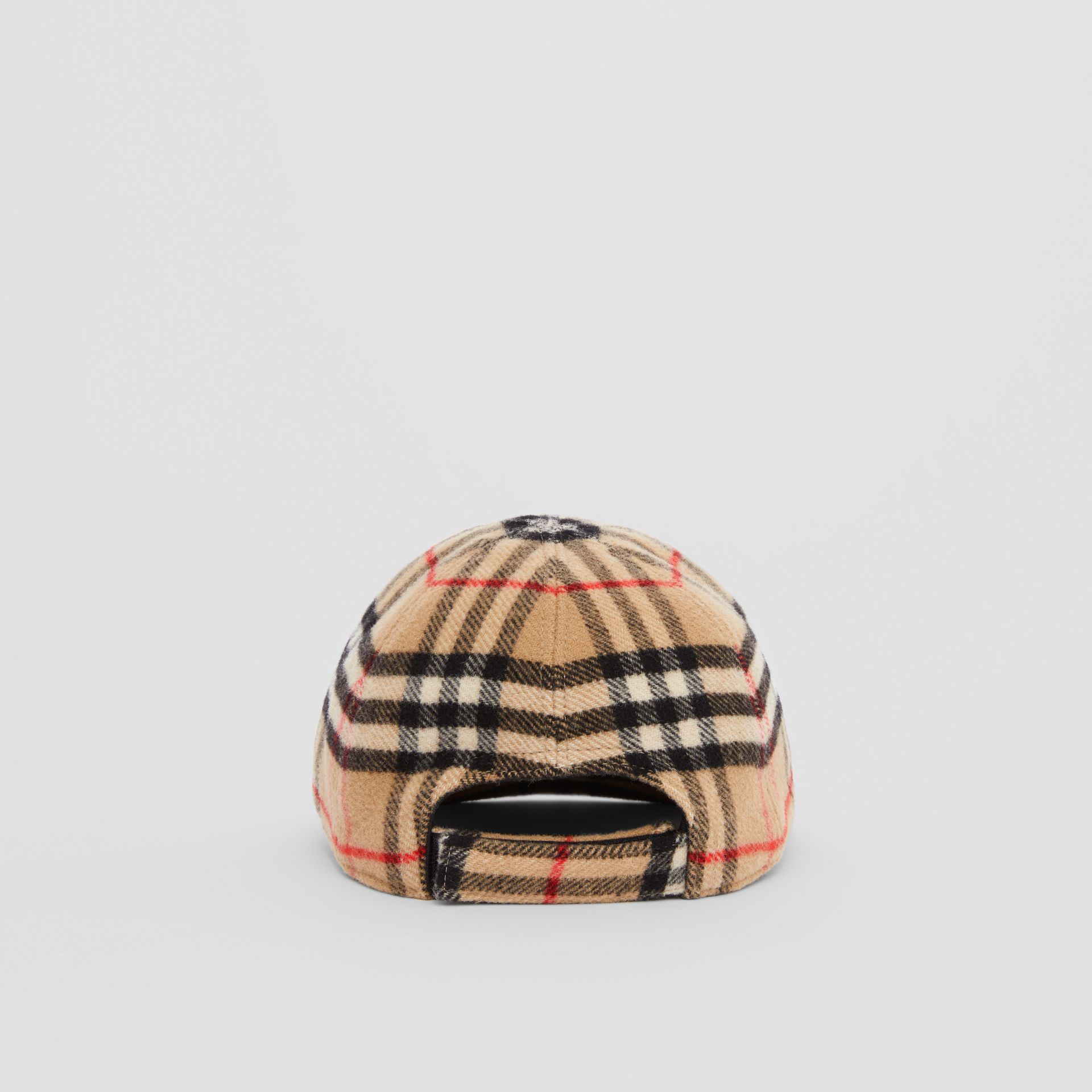 Vintage Check Wool Baseball Cap in Archive Beige - Children | Burberry - gallery image 4