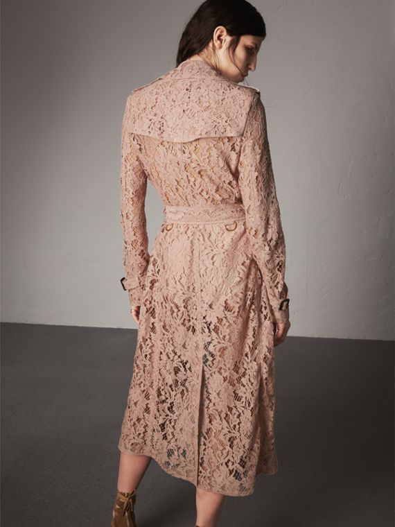 Macramé Lace Trench Coat in Pale Pink - Women | Burberry United Kingdom - cell image 2