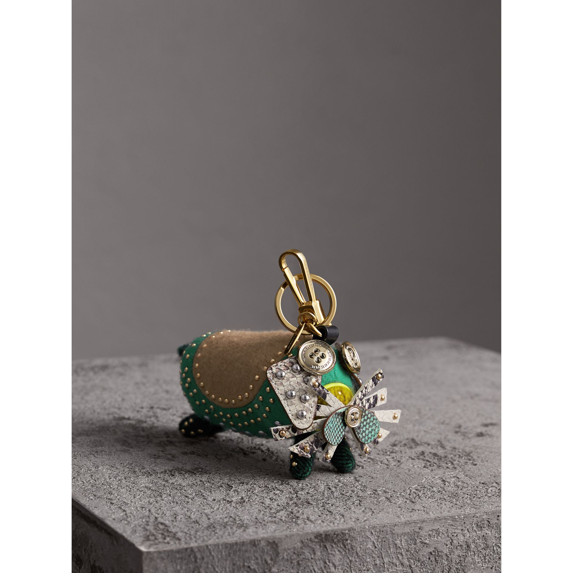 Trevor The Scottie Dog Cashmere Charm in Green Multi - Women | Burberry - gallery image 1