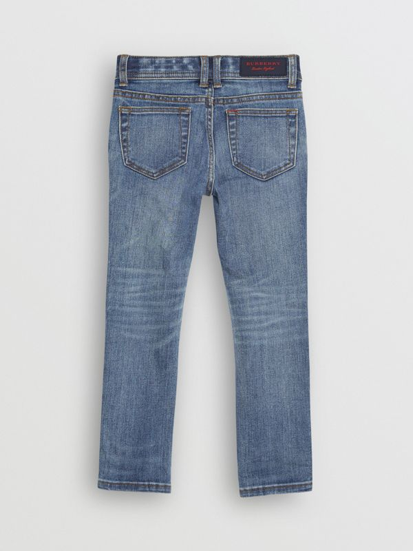 Skinny Fit Stretch Denim Jeans in Mid Indigo - Girl | Burberry Canada - cell image 3