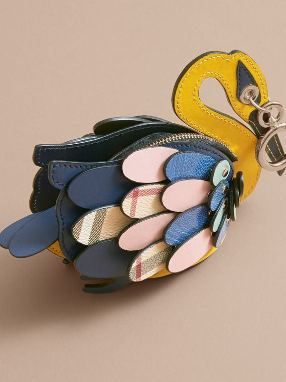 The Swan – Leather and Haymarket Check Coin Case - Women | Burberry - cell image 3