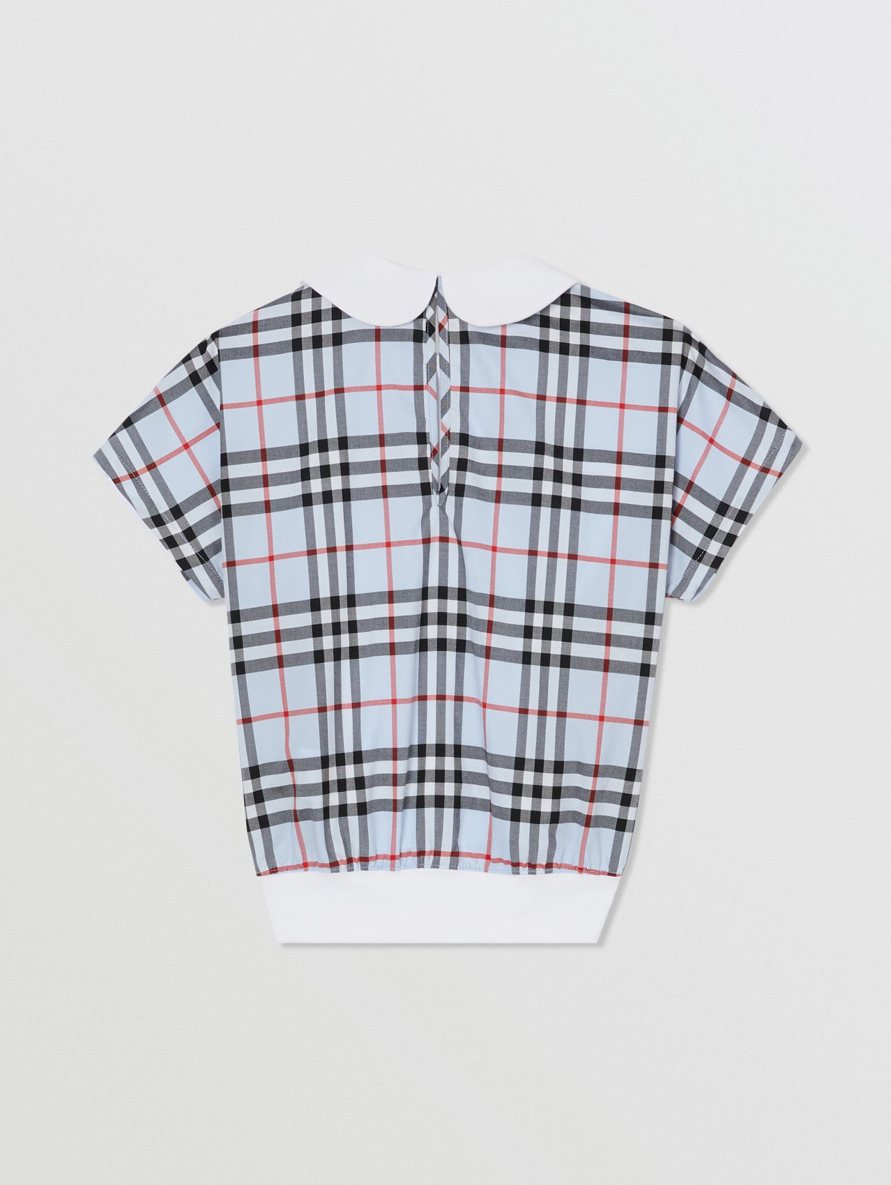 Check Panel Cotton Top (White)