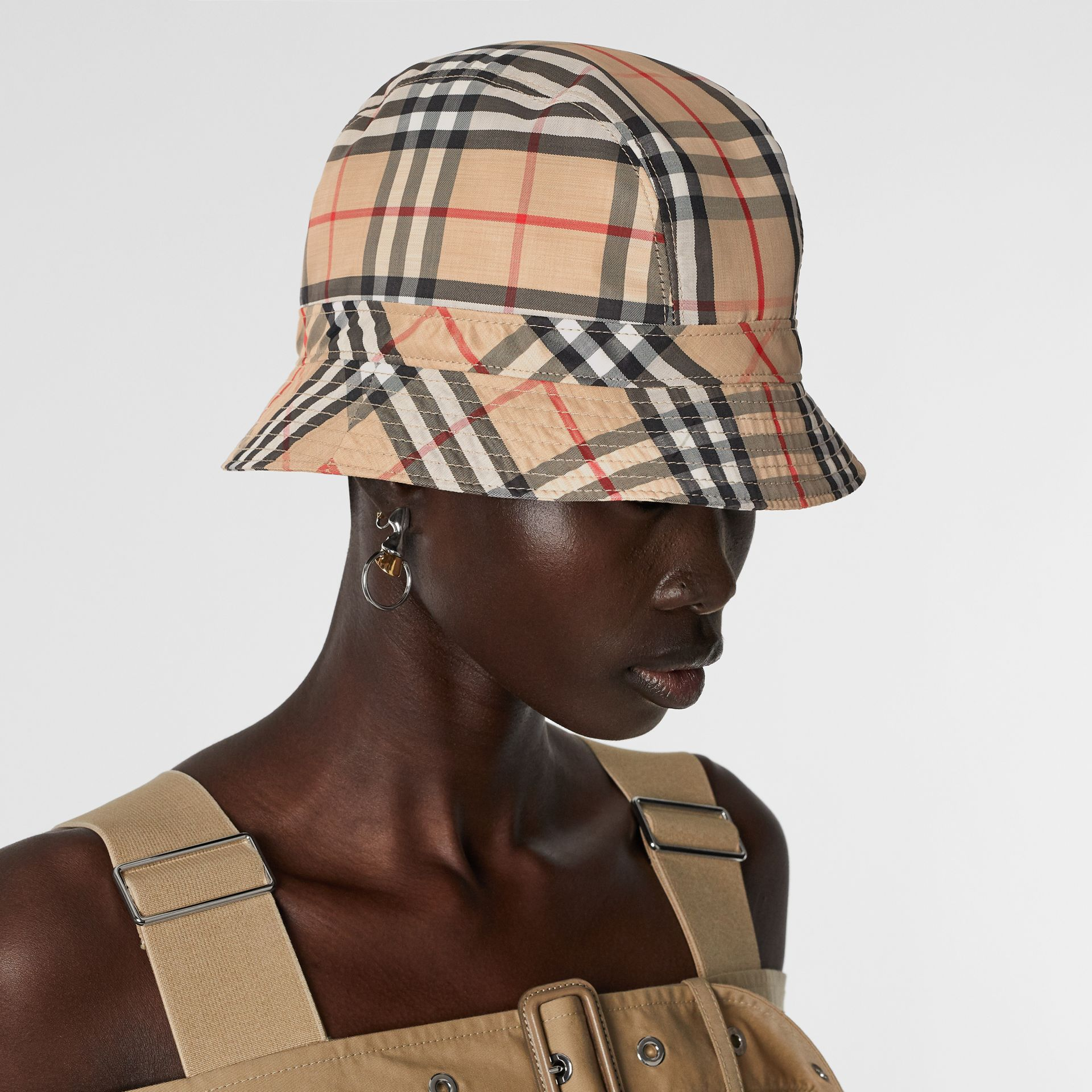 Vintage Check Bucket Hat in Archive Beige | Burberry Australia - gallery image 2