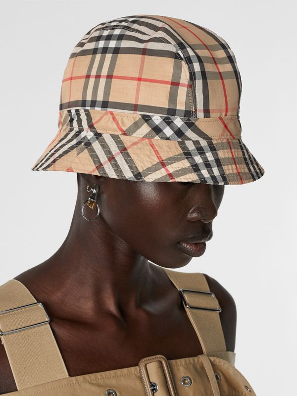 Vintage Check Bucket Hat in Archive Beige | Burberry Australia - cell image 2