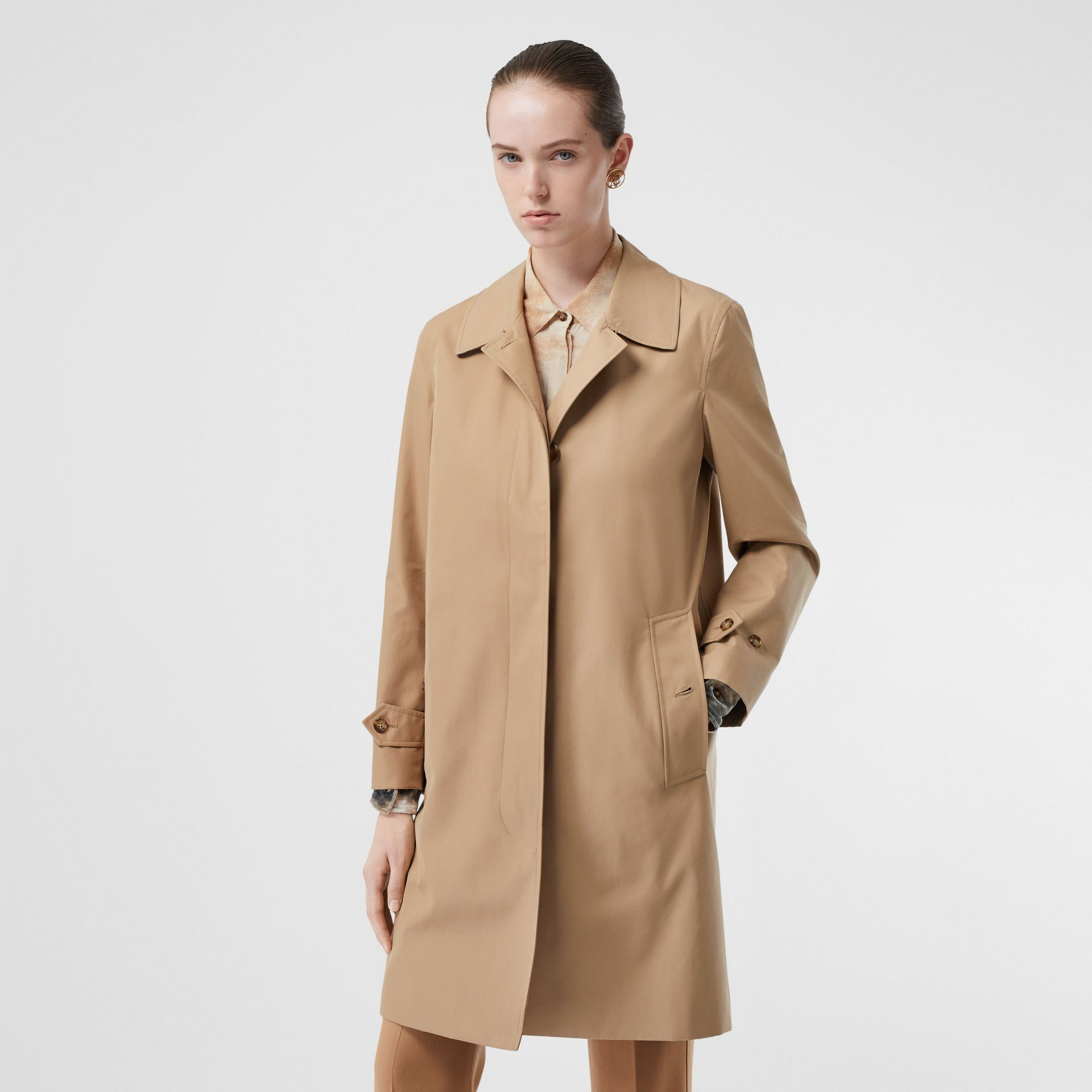 The Pimlico Car Coat in Biscuit - Women | Burberry - gallery image 6