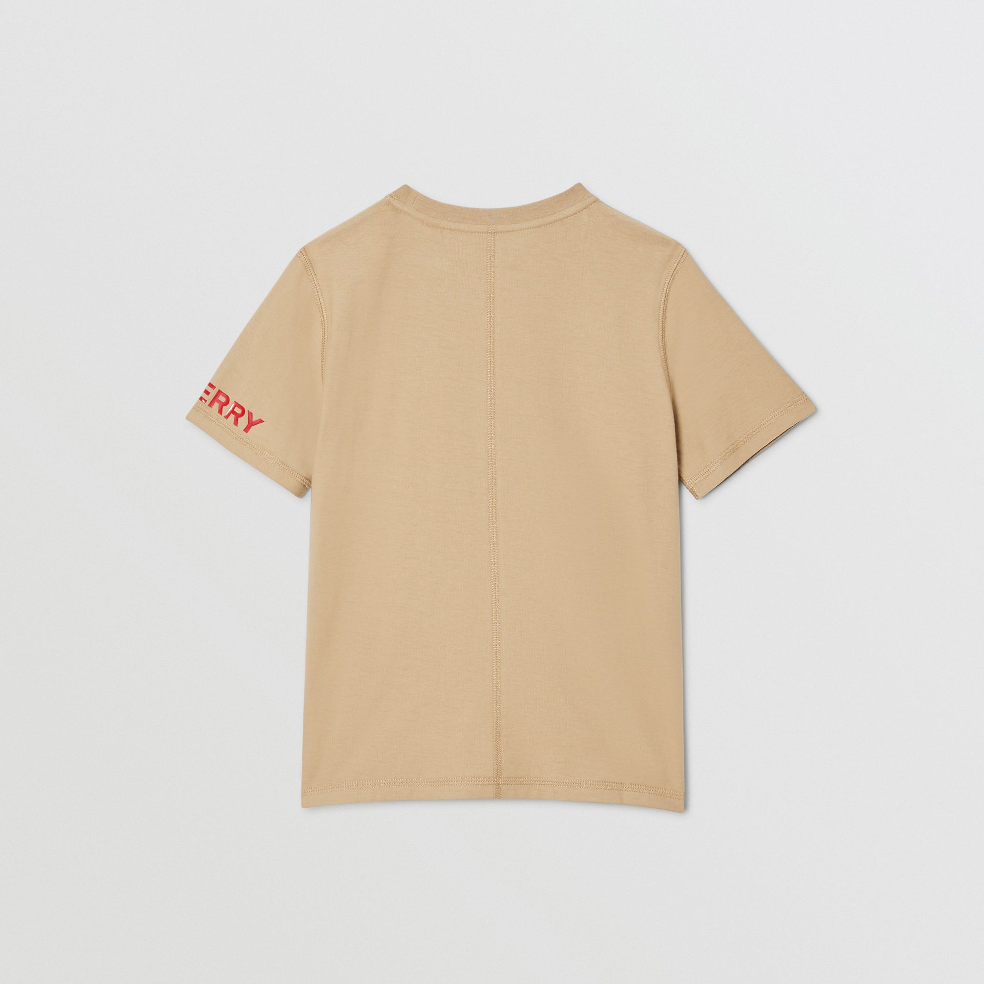 Logo Graphic Cotton T-shirt in Archive Beige | Burberry - gallery image 3