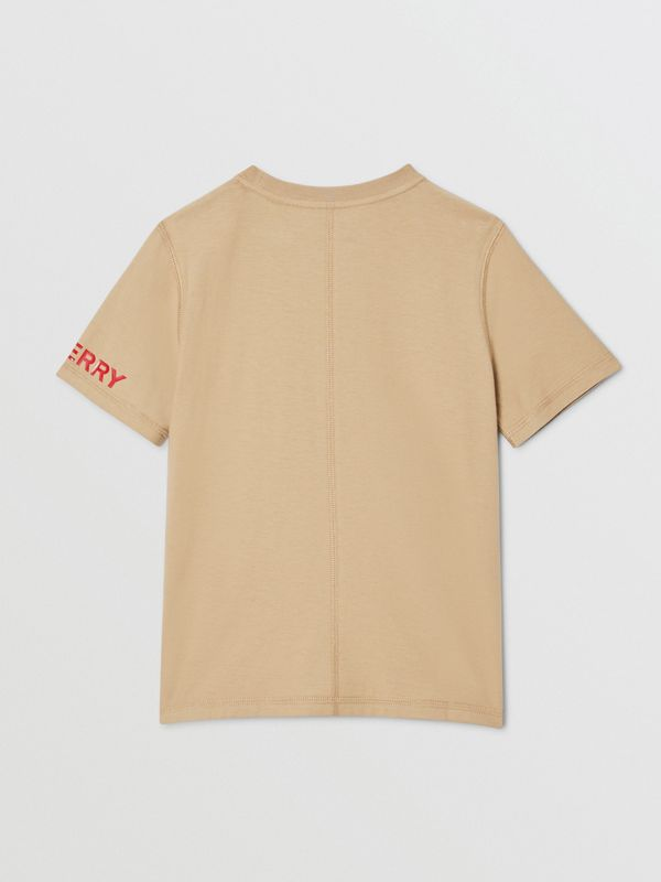 Logo Graphic Cotton T-shirt in Archive Beige | Burberry - cell image 3