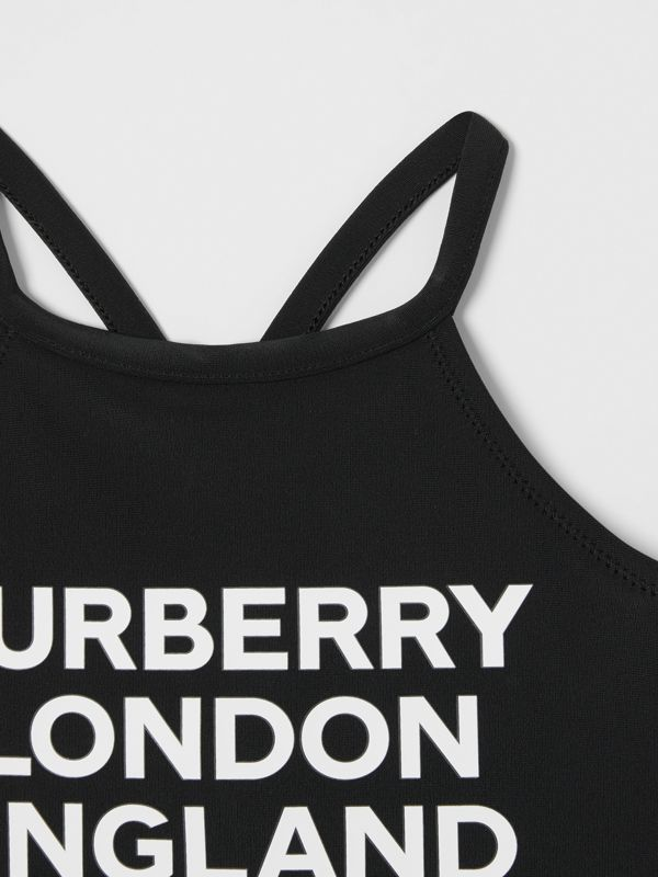 Logo Print Swimsuit in Black - Children | Burberry Hong Kong S.A.R - cell image 3