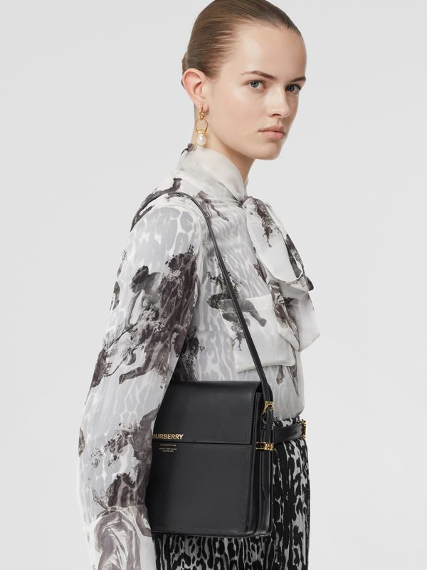 Large Leather Grace Bag in Black - Women | Burberry - cell image 2