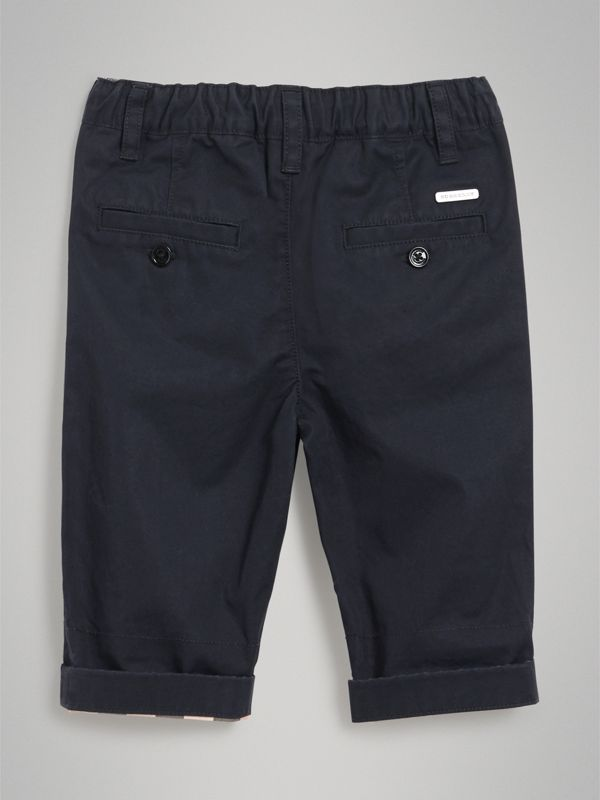 Cotton Twill Chinos in Ink - Children | Burberry United States - cell image 3
