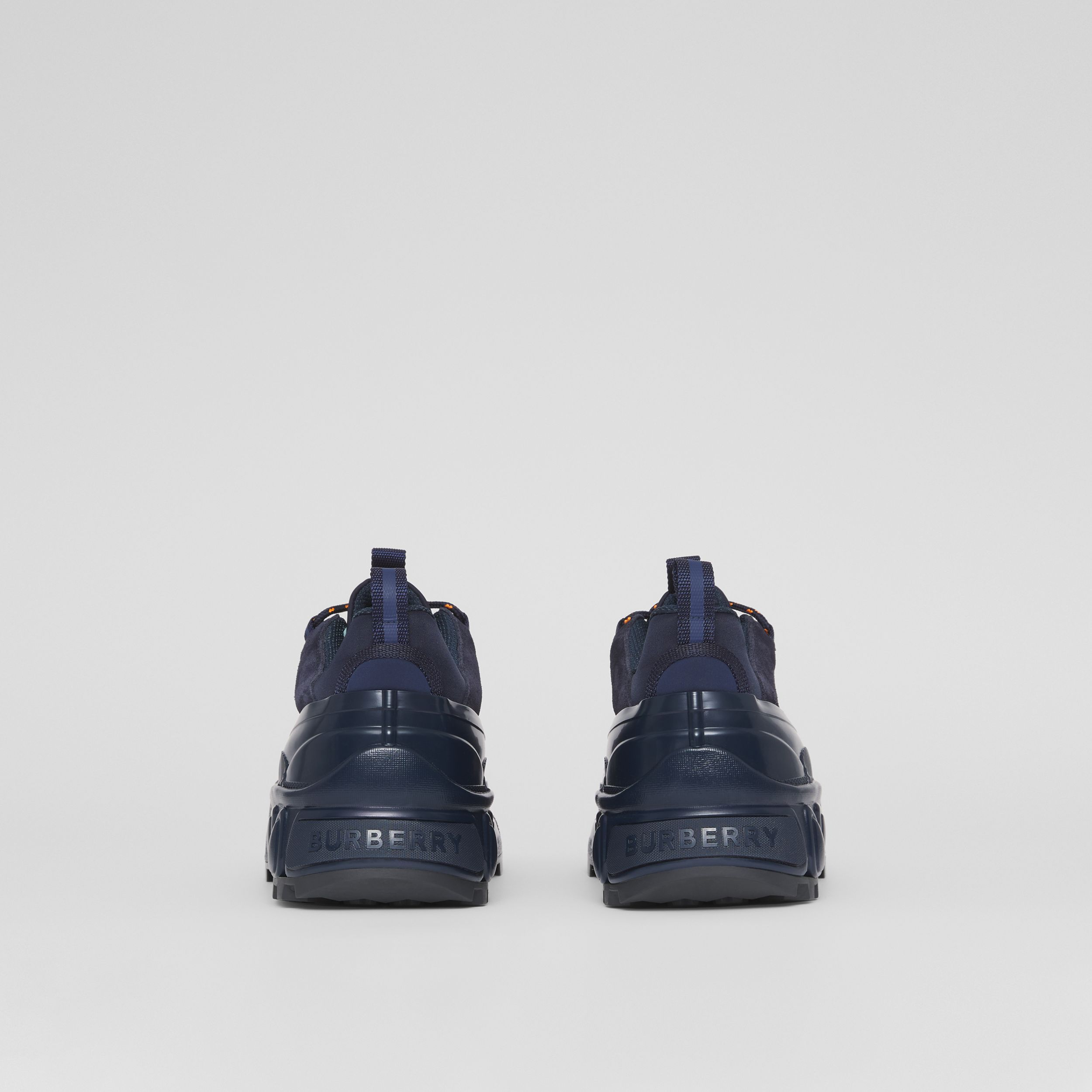 Nylon and Suede Arthur Sneakers – Online Exclusive in Navy - Men | Burberry Hong Kong S.A.R. - 4