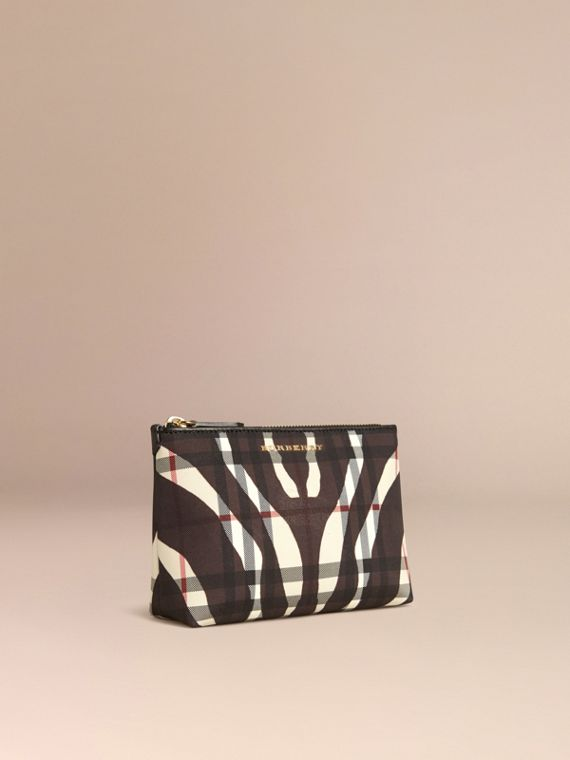 Black Medium Printed Horseferry Check Beauty Pouch - cell image 2