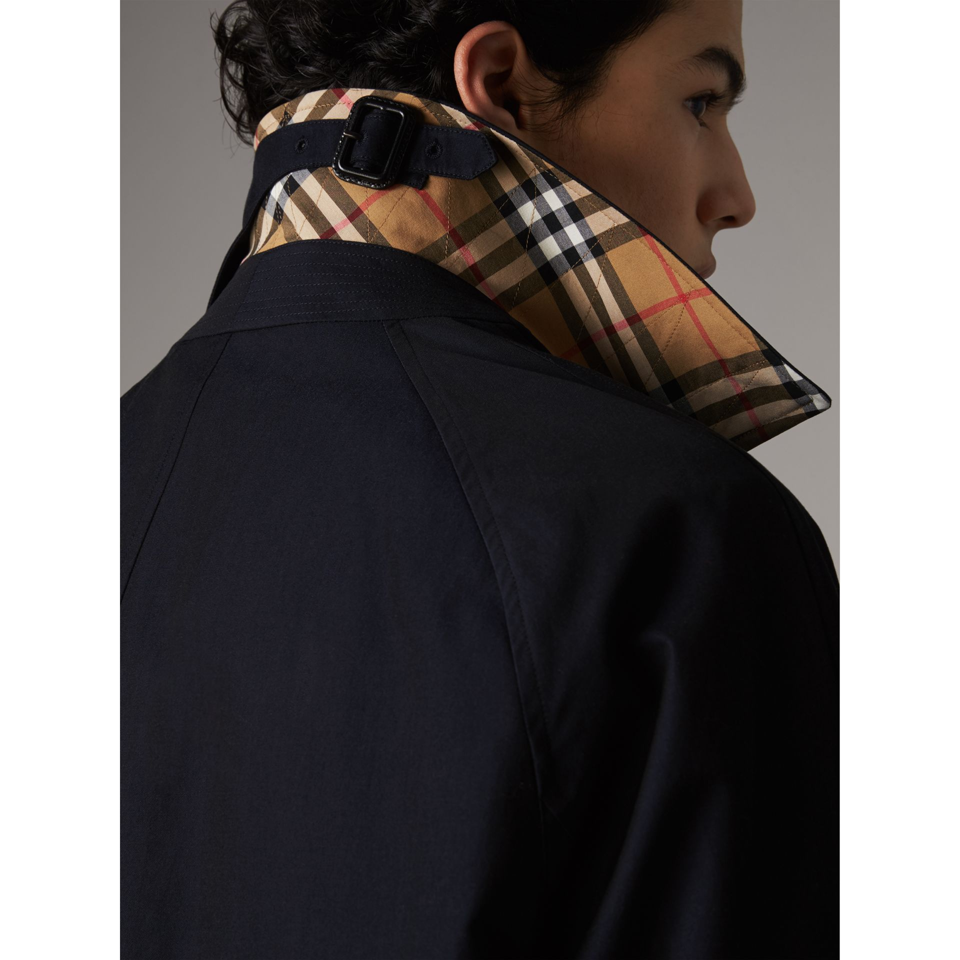 The Camden – Long Car Coat in Blue Carbon - Men | Burberry Australia - gallery image 1