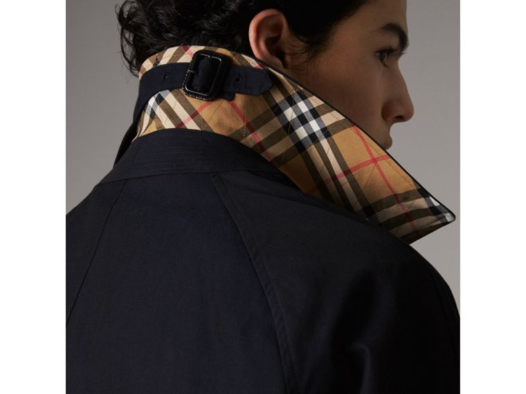 The Camden – Long Car Coat in Blue Carbon - Men | Burberry Australia - cell image 1