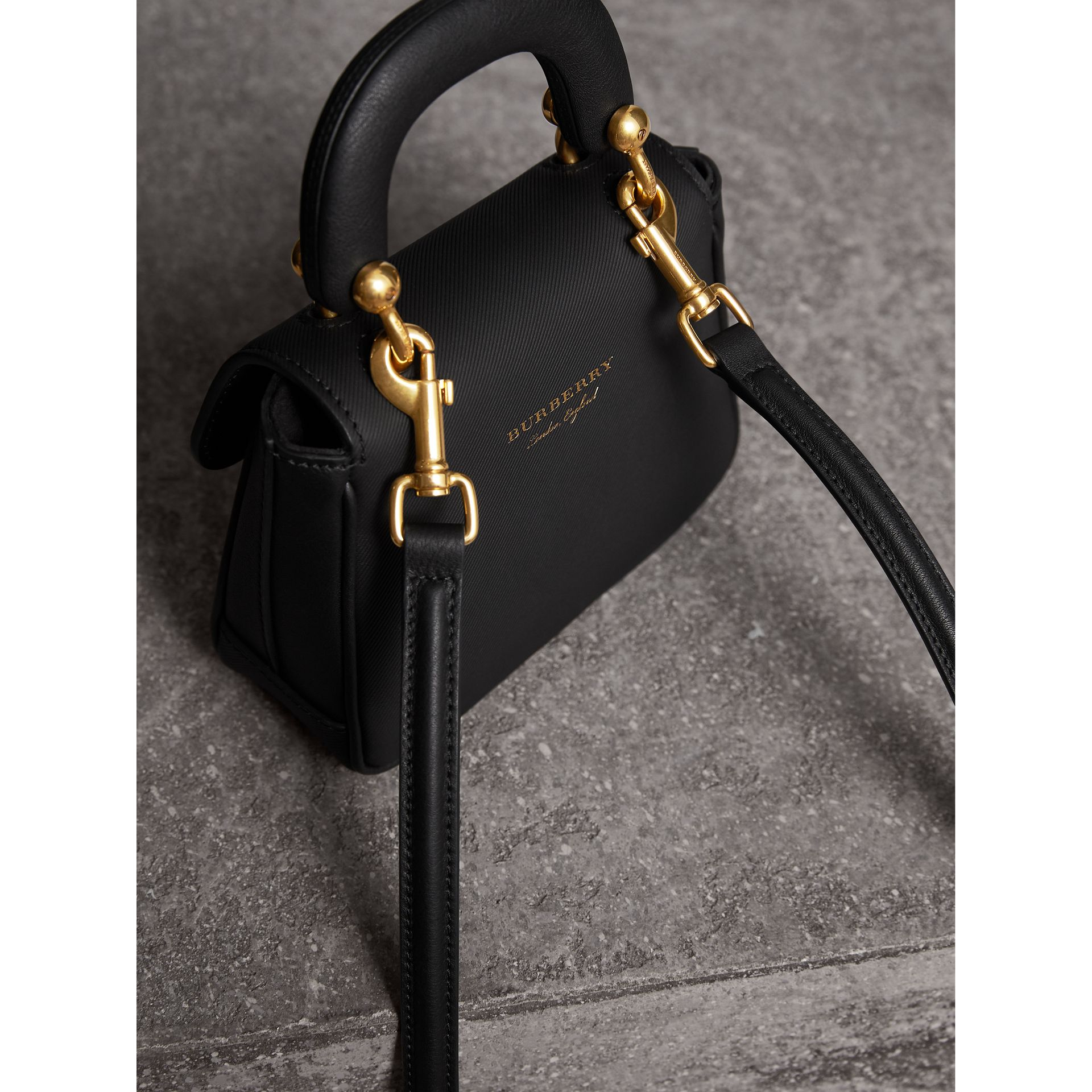The Mini DK88 Top Handle Bag in Black - Women | Burberry - gallery image 4
