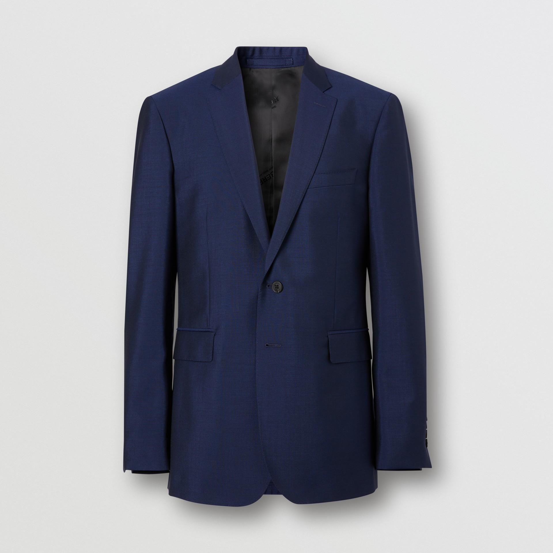 Slim Fit Wool Mohair Suit in Bright Navy - Men | Burberry United Kingdom - gallery image 3