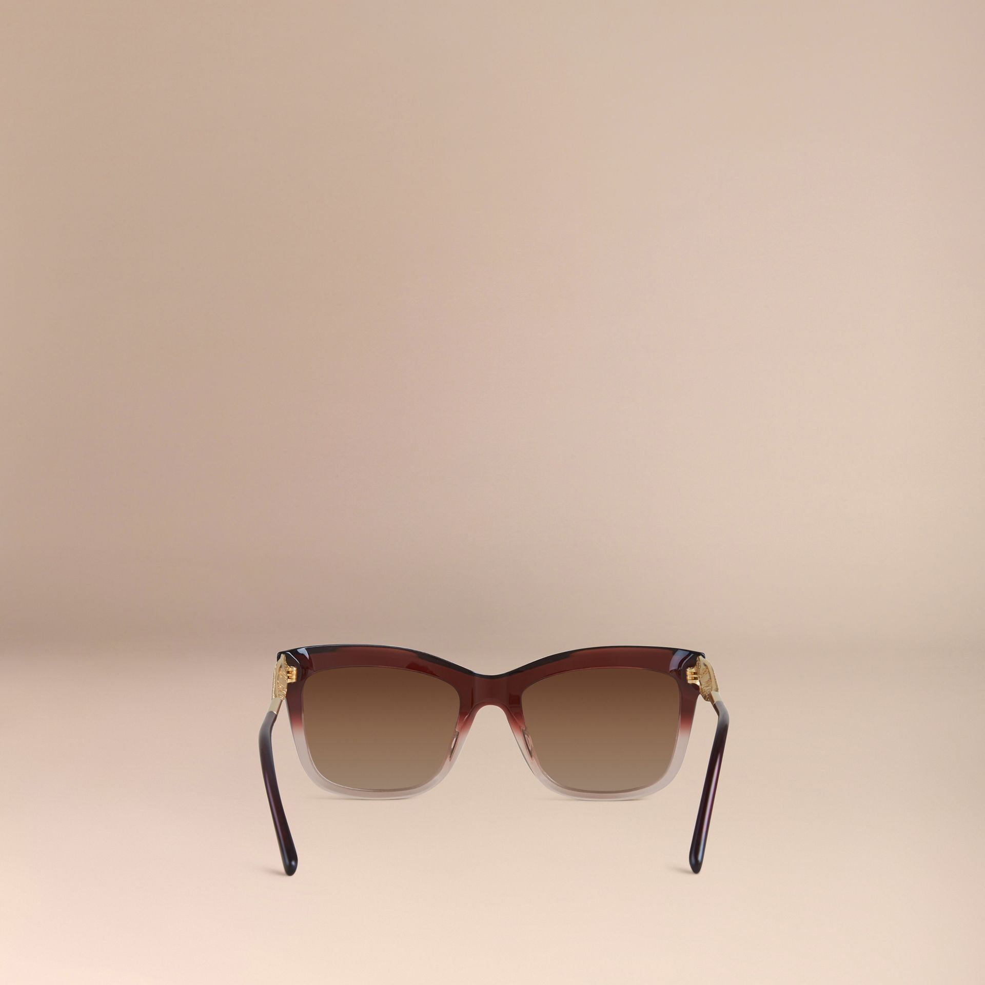 Dark military red Gabardine Lace Collection Square Frame Sunglasses Dark Military Red - gallery image 4