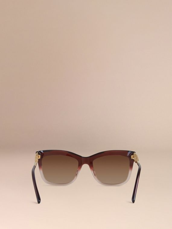 Dark military red Gabardine Lace Collection Square Frame Sunglasses Dark Military Red - cell image 3