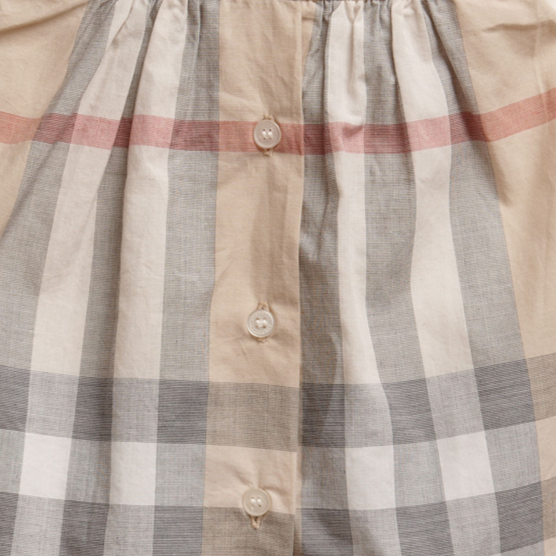 Washed Check Cotton Dress in Pale Classic - Girl | Burberry - gallery image 2