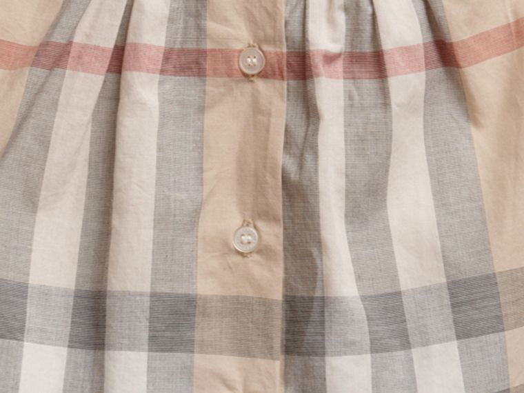 Pale classic check Washed Check Cotton Dress - cell image 1