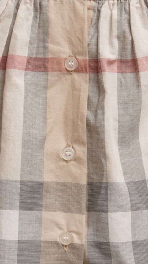 Pale classic check Washed Check Cotton Dress - Image 2