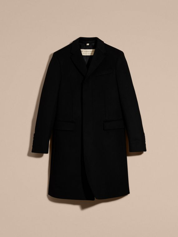 Wool Cashmere Tailored Coat in Black - Men | Burberry United Kingdom - cell image 3