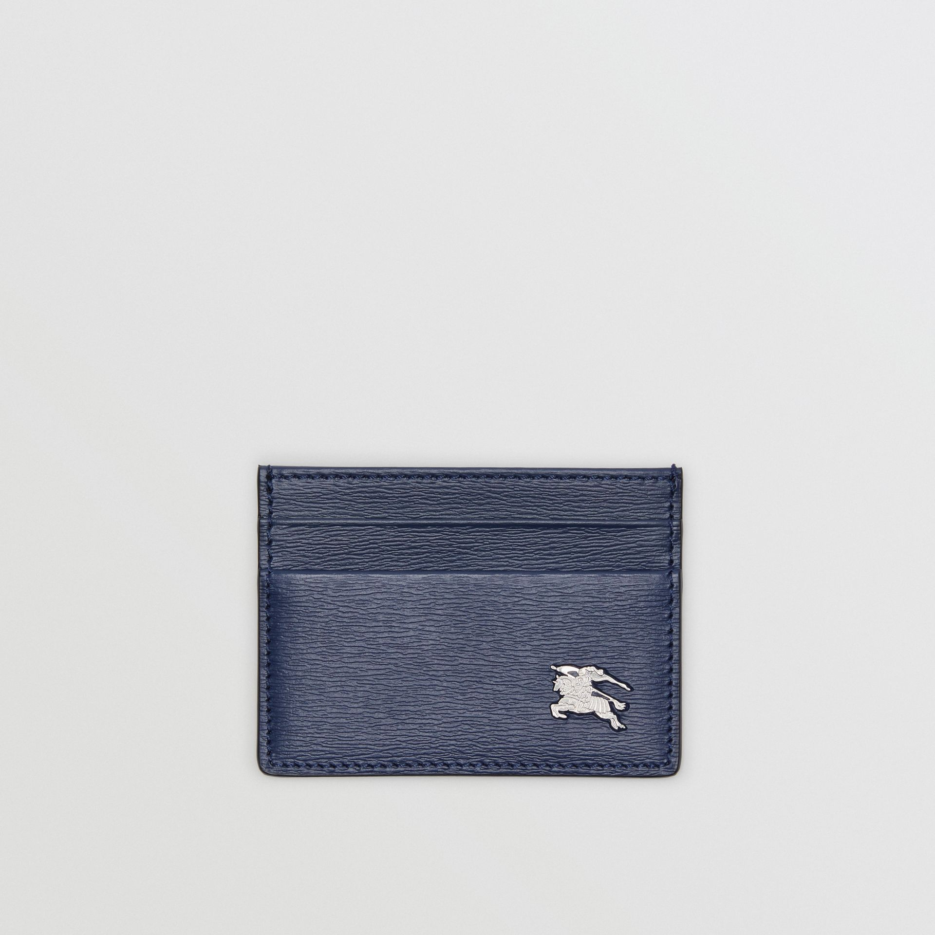 London Leather Card Case in Navy - Men | Burberry - gallery image 0