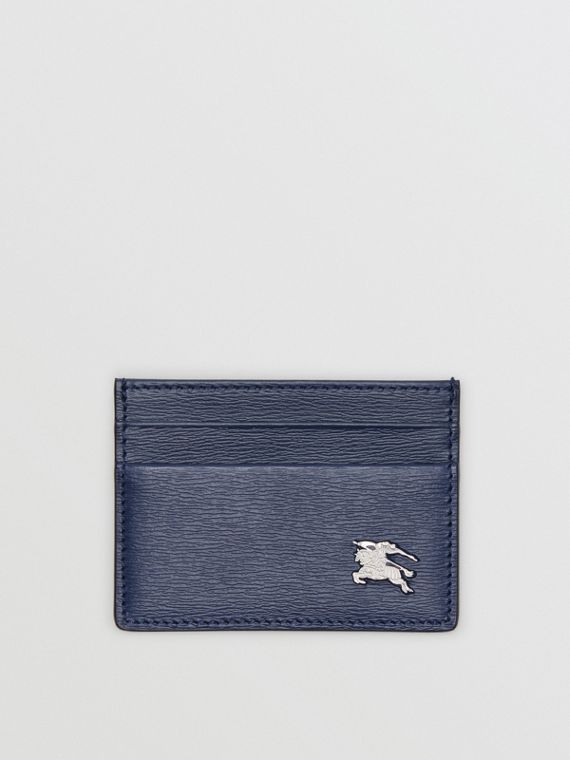 London Leather Card Case in Navy