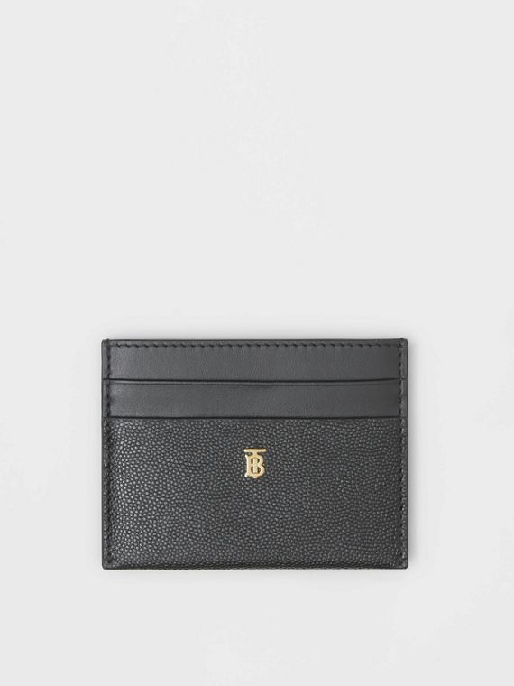 Monogram Motif Leather Card Case in Black