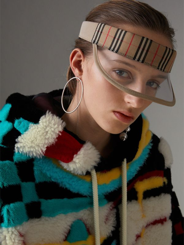 1983 Check Visor in Dark Sand | Burberry - cell image 2