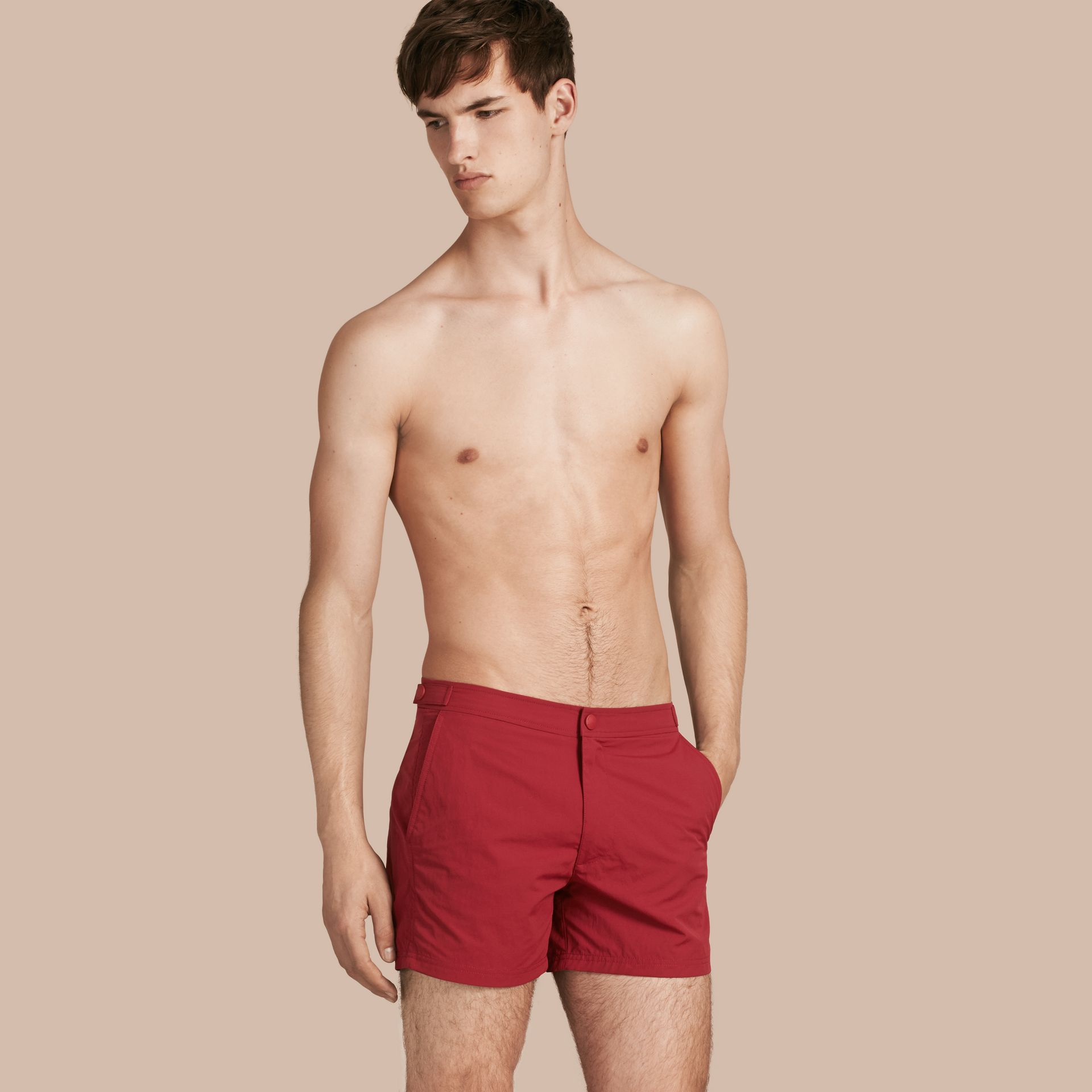 Tailored Swim Shorts in Parade Red - Men | Burberry Canada - gallery image 1