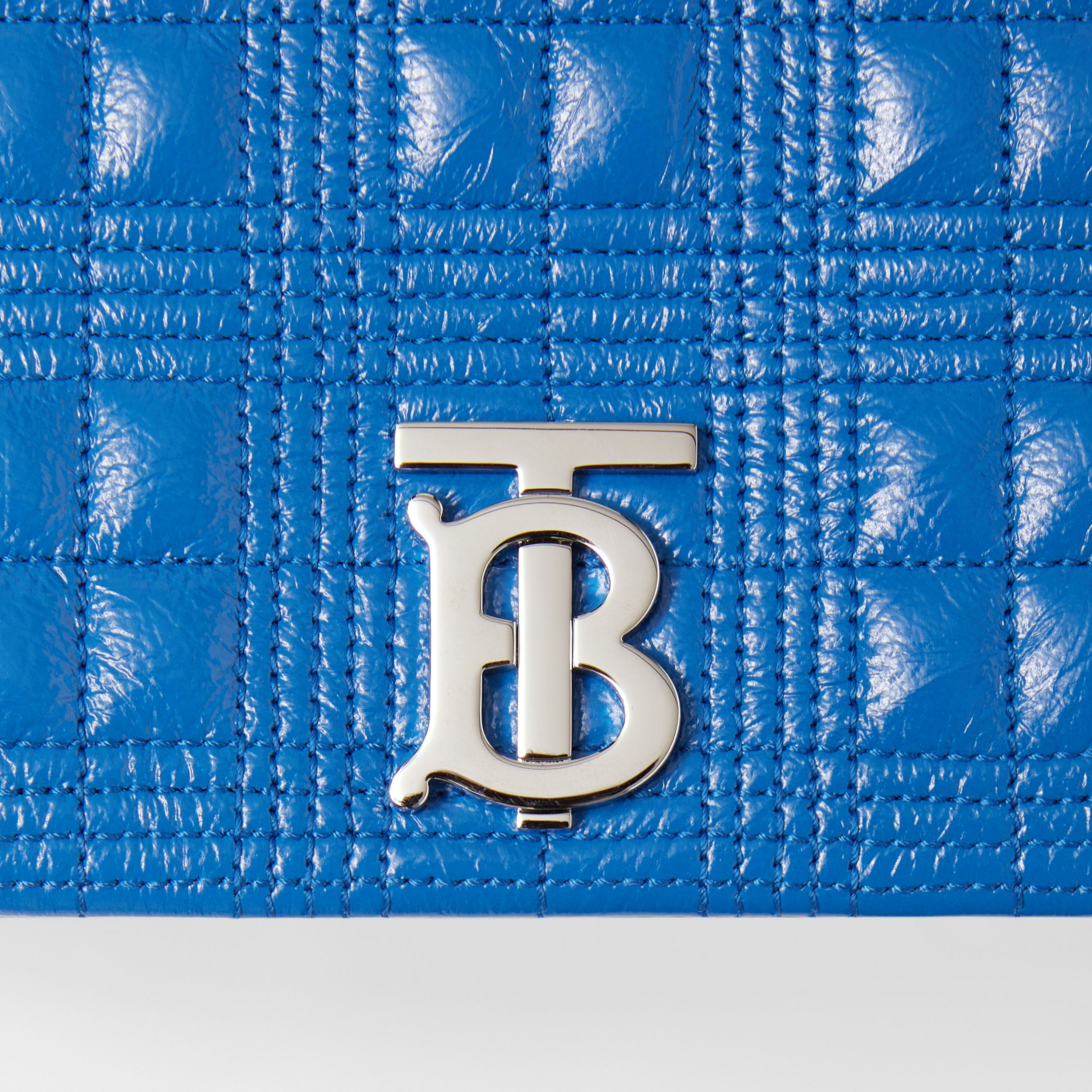 Small Quilted Lambskin Lola Bag in Warm Royal Blue - Women | Burberry United Kingdom - 2