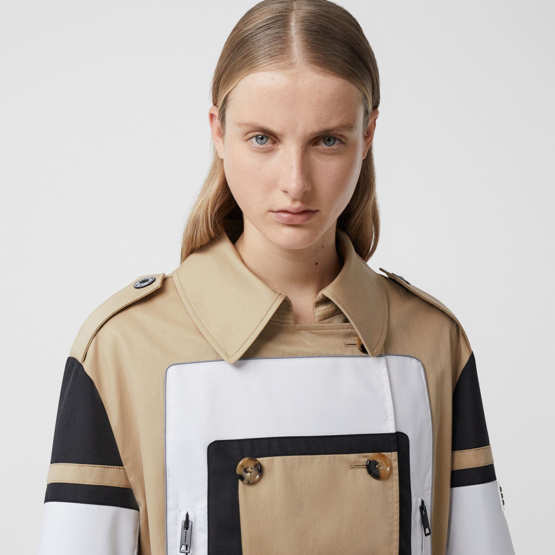 Cotton Gabardine Reconstructed Trench Coat in Soft Fawn - Women | Burberry Australia - gallery image 1